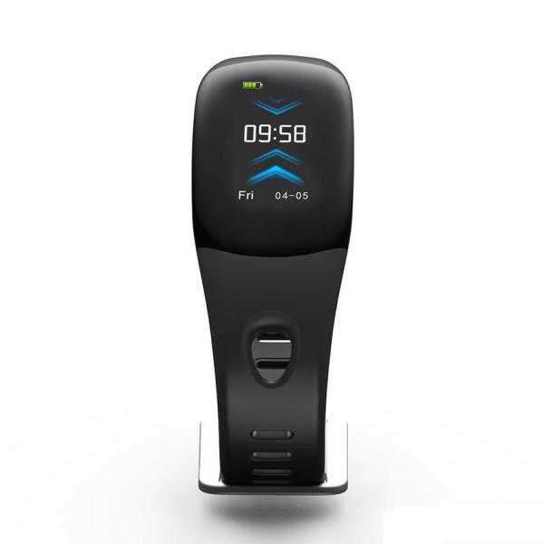 Bratara fitness MoreFIT™ DM11, ecran color 3D curbat, IP68, puls dinamic Bosch, management somn, stand by 10 zile, notificari, negru 1