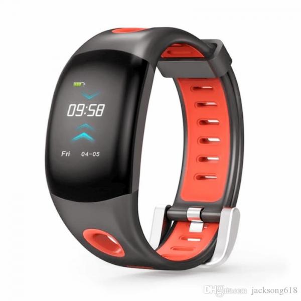 Bratara fitness MoreFIT™ DM11, ecran color 3D curbat, IP68, puls dinamic Bosch, management somn, stand by 10 zile, notificari, rosu 0