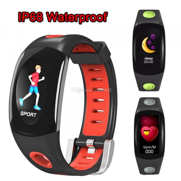 Bratara fitness MoreFIT™ DM11, ecran color 3D curbat, IP68, puls dinamic Bosch, management somn, stand by 10 zile, notificari, rosu 3