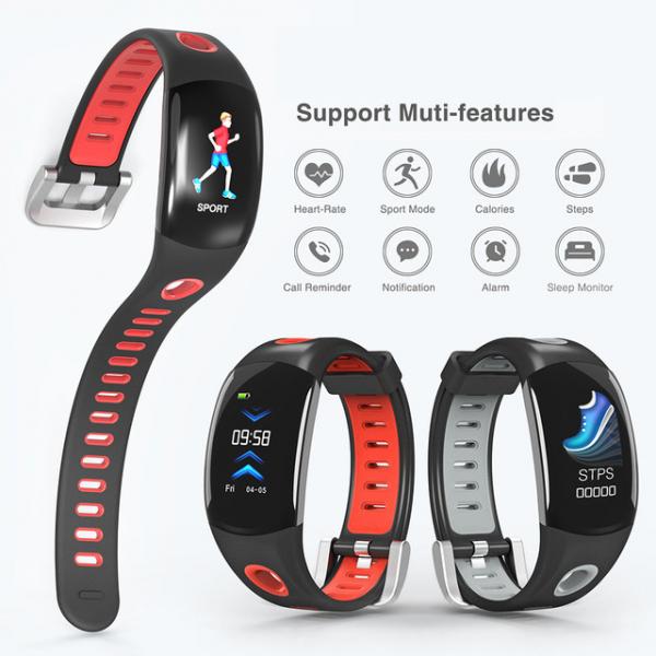 Bratara fitness MoreFIT™ DM11, ecran color 3D curbat, IP68, puls dinamic Bosch, management somn, stand by 10 zile, notificari, rosu 1