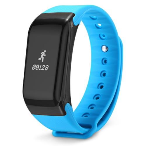 Bratara fitness MoreFIT™ F1 Pro , BT 4.0, rezistenta la apa, puls, nivel oxigen, tensiune, Android, iOS, intrare apeluri, vibratii, albastru 0