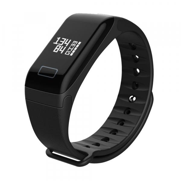 Bratara fitness MoreFIT™ F1 Pro , BT 4.0, rezistenta la apa, puls, nivel oxigen, tensiune, Android, iOS, intrare apeluri, vibratii, negru. [0]
