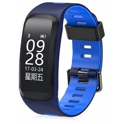 Bratara fitness MoreFIT™ F4 Pro Plus, IP68 submersibila, puls dinamic, tensiune, vremea, altitudine, UV index, Android, iOS, notificari, albastru [0]