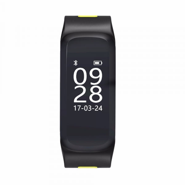 Bratara fitness MoreFIT™ F4 Pro Plus, IP68 submersibila, puls dinamic, tensiune, vremea, altitudine, UV index, Android, iOS, notificari, negru/gri 1