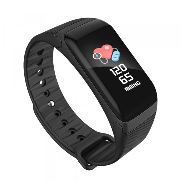 Bratara fitness MoreFIT™ F601 Color, GPS, marcare traseu pe harta, IP67, puls/oxigen/tensiune dinamic, calorii, nivel oboseala, notificare apleuri/sms/aplicatii, monitorizare somn, remote camera, caut 0