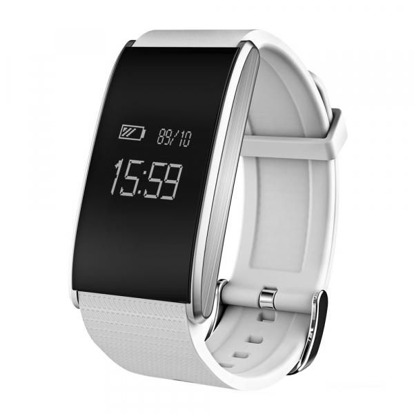Bratara fitness MoreFIT™ FitGear A58 Pro,  BT 4.0, puls, tensiune, nivel oboseala, stand-by 20 zile, Android, iOS, notificari, remote camera, alb 0