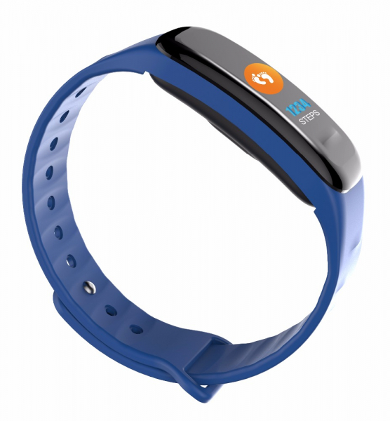 Bratara fitness MoreFIT™ FitGear C18, Puls, Ritm cardiac, Pedometru, Tensiune, Calorii, Notificari, Monitorizare somn, Stand-by 15 zile, BT 4.0, Albastru 2