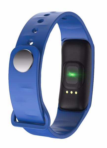 Bratara fitness MoreFIT™ FitGear C18, Puls, Ritm cardiac, Pedometru, Tensiune, Calorii, Notificari, Monitorizare somn, Stand-by 15 zile, BT 4.0, Albastru 3