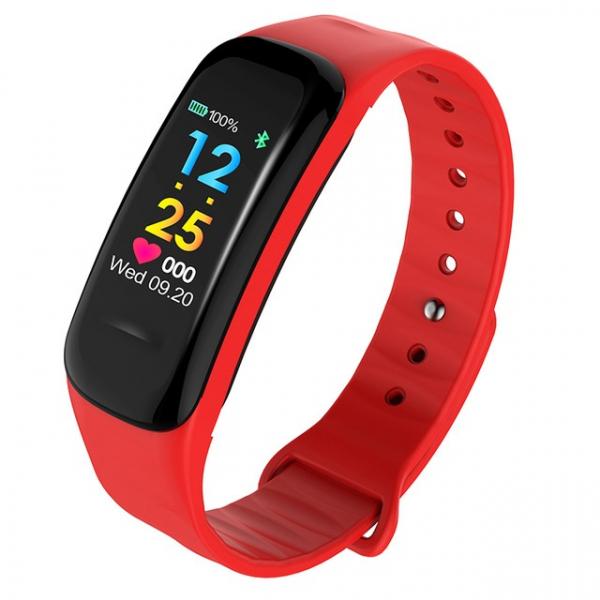 Bratara fitness MoreFIT™ FitGear C18, Puls, Ritm cardiac, Pedometru, Tensiune, Calorii, Notificari, Monitorizare somn, Stand-by 15 zile, BT 4.0, Rosu [0]