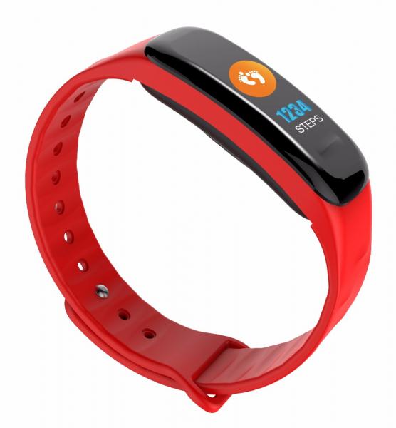 Bratara fitness MoreFIT™ FitGear C18, Puls, Ritm cardiac, Pedometru, Tensiune, Calorii, Notificari, Monitorizare somn, Stand-by 15 zile, BT 4.0, Rosu [2]