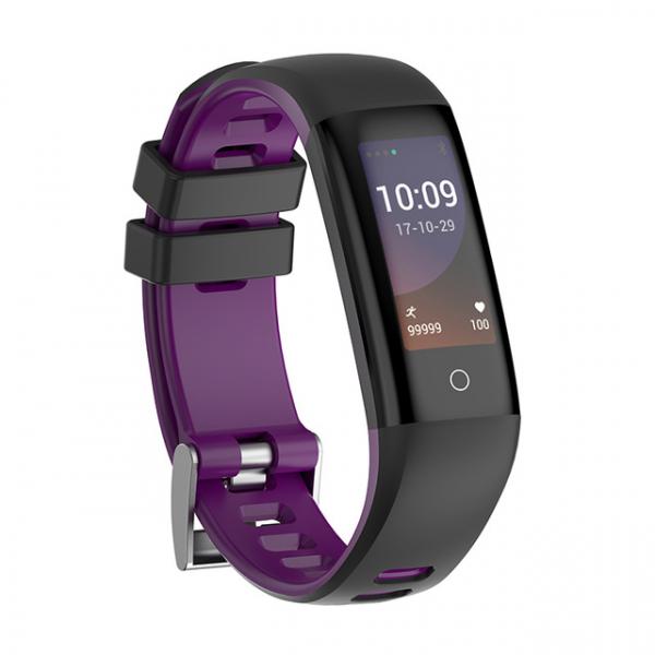 Bratara fitness MoreFIT™ G16, ecran color IPS, IP67, puls dinamic, tensiune, nivel oboseala, monitorizare somn, 5 stiluri display, stand-by 21 zile, Android, iOS, notificari, negru/mov 0