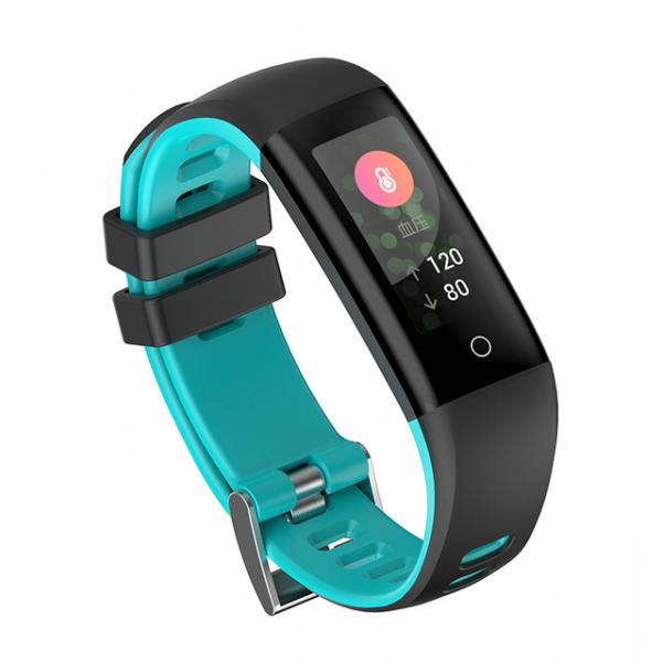 Bratara fitness MoreFIT™ G16, ecran color IPS, IP67, puls dinamic, tensiune, nivel oboseala, monitorizare somn, 5 stiluri display, stand-by 21 zile, Android, iOS, notificari, negru/albastru [0]