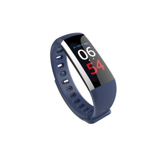 Bratara fitness MoreFIT™ G19, ecran color TFT, IP67, puls dinamic 24/24h ,oxigen ,tensiune, nivel oboseala, monitorizare somn,  remote camera, stand-by 21 zile, Android, iOS, notificari, albastru [2]