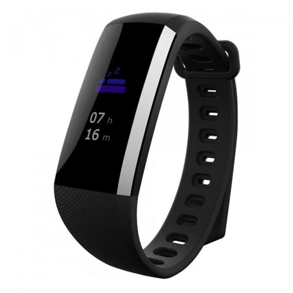 Bratara fitness MoreFIT™ G19, ecran color TFT, IP67, puls dinamic 24/24h ,oxigen ,tensiune, nivel oboseala, monitorizare somn,  remote camera, stand-by 21 zile, Android, iOS, notificari, negru [3]