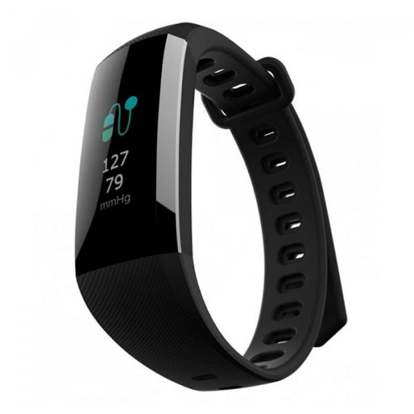 Bratara fitness MoreFIT™ G19, ecran color TFT, IP67, puls dinamic 24/24h ,oxigen ,tensiune, nivel oboseala, monitorizare somn,  remote camera, stand-by 21 zile, Android, iOS, notificari, negru [2]