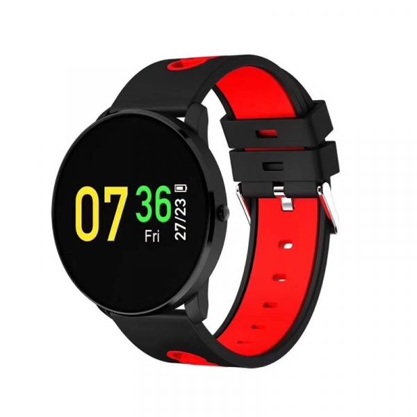 Bratara fitness MoreFIT™ GearFit CF007 Pro Plus, Ecran Color, tensiune, puls dinamic, vremea, oxygen, stand-by indelungat, Android, iOS, notificari, negru/rosu 0