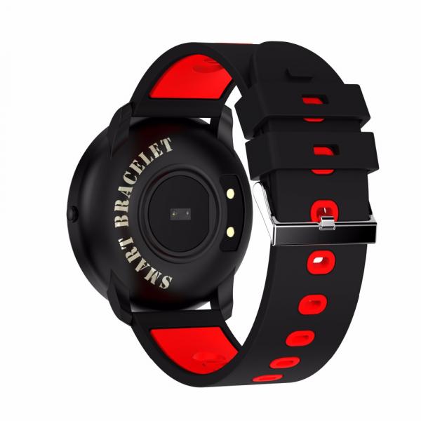 Bratara fitness MoreFIT™ GearFit CF007 Pro Plus, Ecran Color, tensiune, puls dinamic, vremea, oxygen, stand-by indelungat, Android, iOS, notificari, negru/rosu 5
