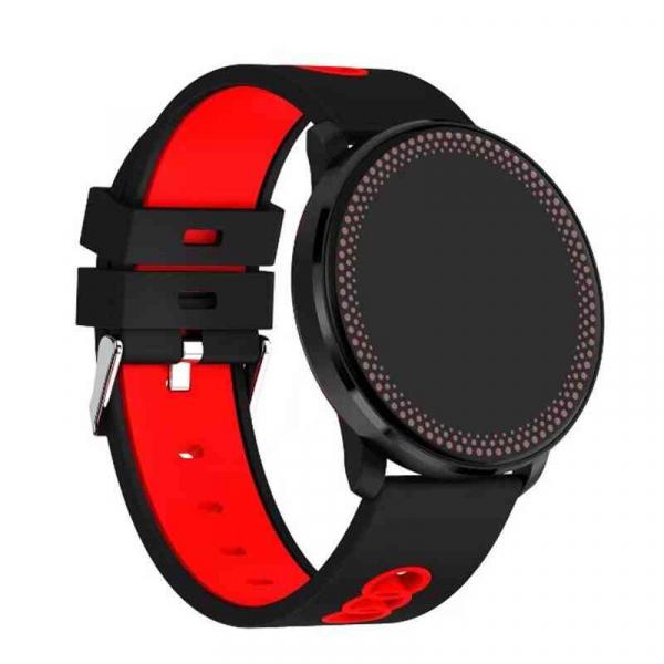 Bratara fitness MoreFIT™ GearFit CF007 Pro Plus, Ecran Color, tensiune, puls dinamic, vremea, oxygen, stand-by indelungat, Android, iOS, notificari, negru/rosu 1