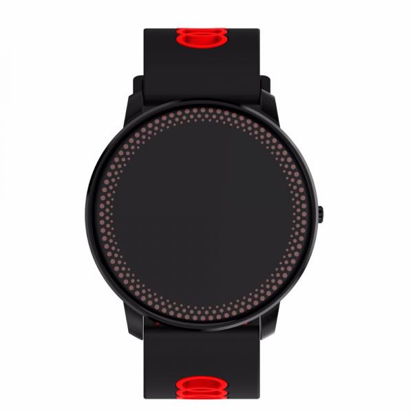 Bratara fitness MoreFIT™ GearFit CF007 Pro Plus, Ecran Color, tensiune, puls dinamic, vremea, oxygen, stand-by indelungat, Android, iOS, notificari, negru/rosu 4