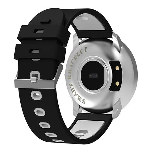 Bratara fitness MoreFIT™ GearFit CF007S Plus, Ecran Color, tensiune, puls dinamic, vremea, oxygen, stand-by indelungat, Android, iOS, notificari, negru/alb [3]