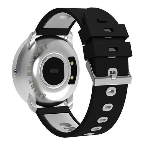 Bratara fitness MoreFIT™ GearFit CF007S Plus, Ecran Color, tensiune, puls dinamic, vremea, oxygen, stand-by indelungat, Android, iOS, notificari, negru/alb [2]