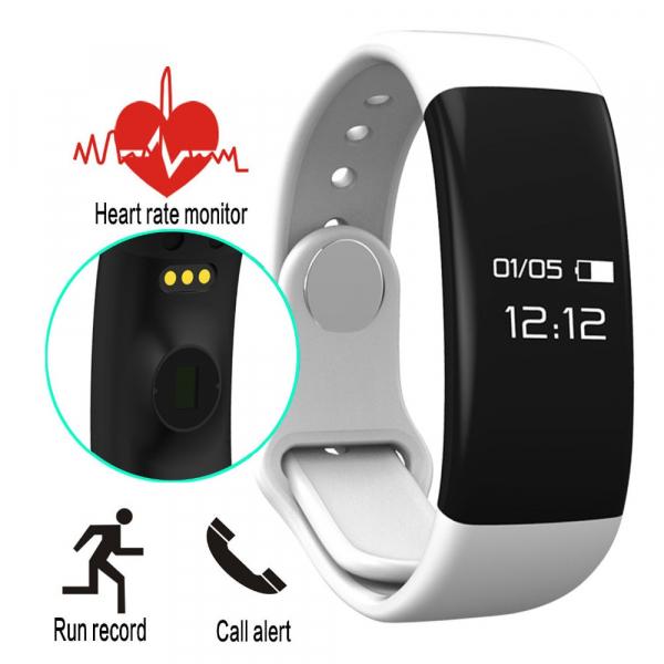 Bratara fitness MoreFIT™ H30 Plus, BT 4.0, rezistenta la apa, monitorizare dinamica puls, Android, iOS, intrari apeluri, alb 1