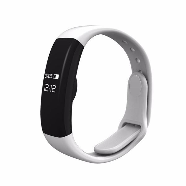 Bratara fitness MoreFIT™ H30 Plus, BT 4.0, rezistenta la apa, monitorizare dinamica puls, Android, iOS, intrari apeluri, alb 2
