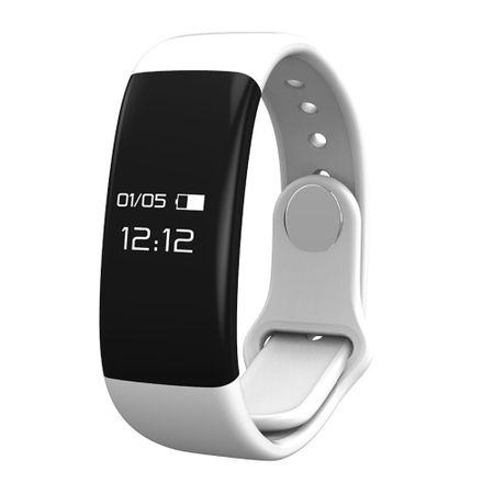 Bratara fitness MoreFIT™ H30 Plus, BT 4.0, rezistenta la apa, monitorizare dinamica puls, Android, iOS, intrari apeluri, alb 0