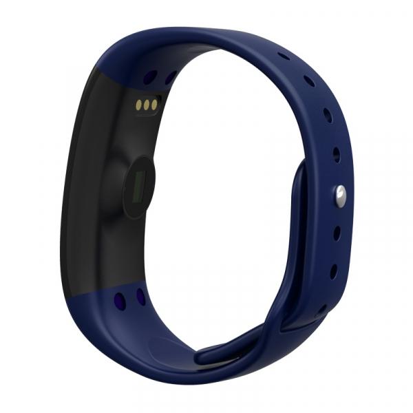 Bratara fitness MoreFIT™ H30 Plus, BT 4.0, rezistenta la apa, monitorizare dinamica puls, Android, iOS, intrari apeluri, albastru [5]
