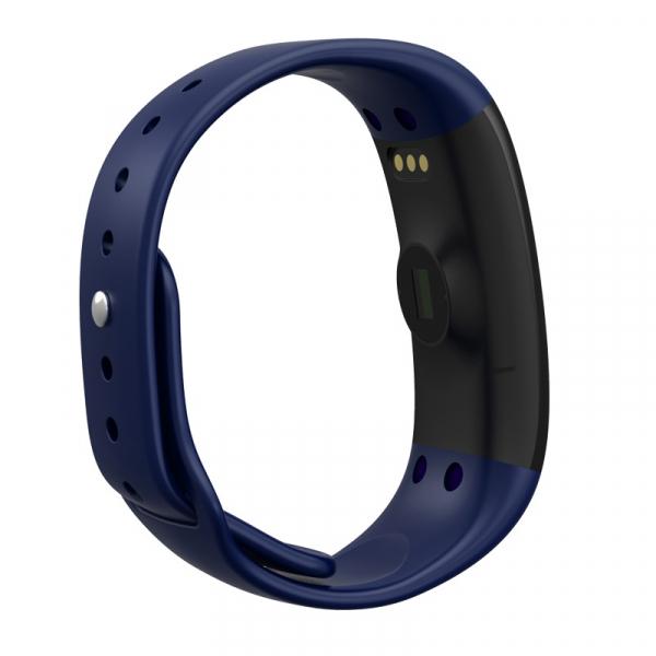 Bratara fitness MoreFIT™ H30 Plus, BT 4.0, rezistenta la apa, monitorizare dinamica puls, Android, iOS, intrari apeluri, albastru [3]