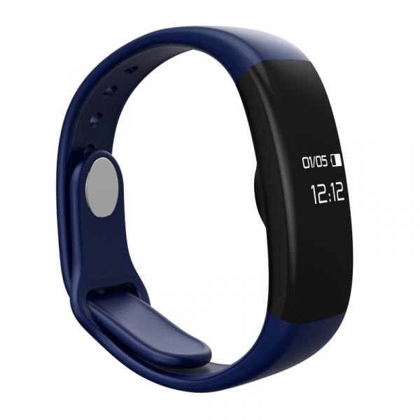 Bratara fitness MoreFIT™ H30 Plus, BT 4.0, rezistenta la apa, monitorizare dinamica puls, Android, iOS, intrari apeluri, albastru [4]