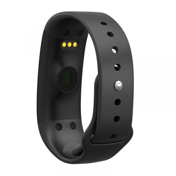 Bratara fitness MoreFIT™ H30 Plus, BT 4.0, rezistenta la apa, monitorizare dinamica puls, Android, iOS, intrari apeluri, negru 1