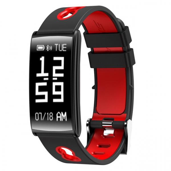 Bratara fitness MoreFIT™ HM68, BT 4.0, Puls, Tensiune Arteriala, Ritm Cardiac, Oxigen Sange, Monitorizare Somn, Pedometru, Nivel Oboseala, Notificari, Alarma, Rezistenta la Apa IP67, Stand-by 10 zile, 0