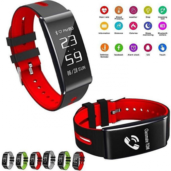Bratara fitness MoreFIT™ HM68, BT 4.0, Puls, Tensiune Arteriala, Ritm Cardiac, Oxigen Sange, Monitorizare Somn, Pedometru, Nivel Oboseala, Notificari, Alarma, Rezistenta la Apa IP67, Stand-by 10 zile, 2