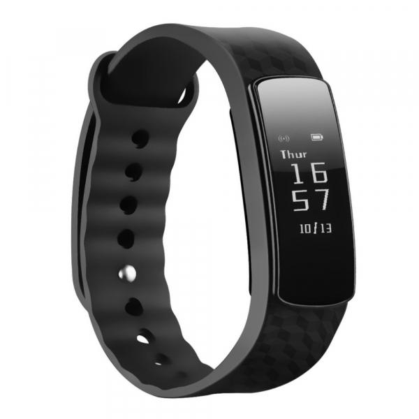 Bratara fitness MoreFIT™ i3 HR Pro, Control prin gesturi, rezistenta la apa ip67 , monitorizare puls si somn, cronometru, notificari apeluri si sms, Android, iOS, vibratii, negru 1
