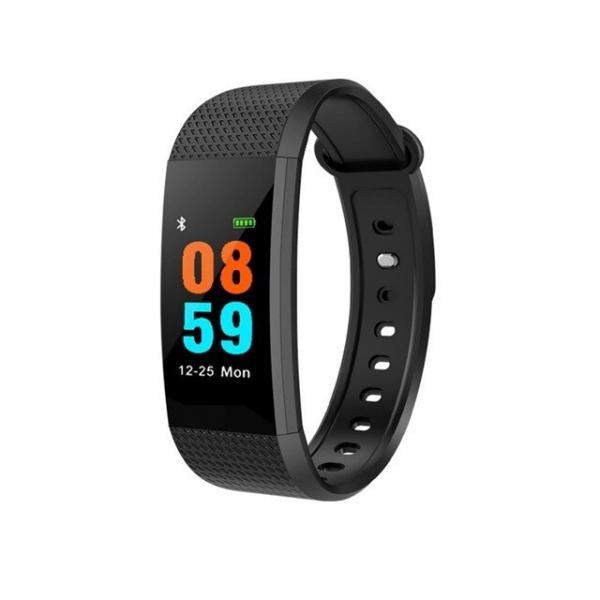 Bratara fitness MoreFIT™ i9,  BT 4.0, Puls, Tensiune, Nivel Oboseala, Pedometru, Calorii, Distanta, Monitorizare Somn, Rezistenta la Apa IP68, Android, iOS, Notificari, Negru [0]