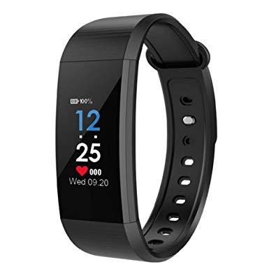 Bratara fitness MoreFIT™ i9,  BT 4.0, Puls, Tensiune, Nivel Oboseala, Pedometru, Calorii, Distanta, Monitorizare Somn, Rezistenta la Apa IP68, Android, iOS, Notificari, Negru [3]