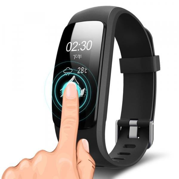 Bratara fitness MoreFIT™ ID107 HR Pro, GPS pentru alergat, alerta vreme , rezistenta la apa , monitorizare puls, notificari aplicatii, notificari apeluri si sms, respingere apel, control muzica telefo 5