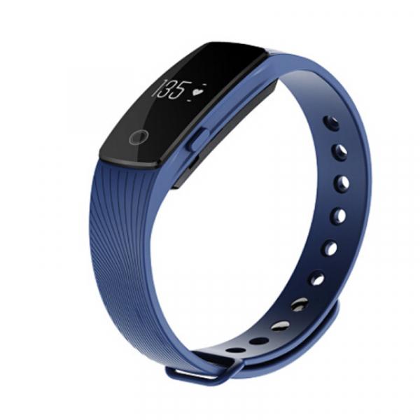 Bratara fitness MoreFIT™ ID107 Pro , BT 4.0 , monitorizare puls si somn , actionare camera smart , cronometru, notificari apeluri si sms, Android, iOS, vibratii, albastru 0