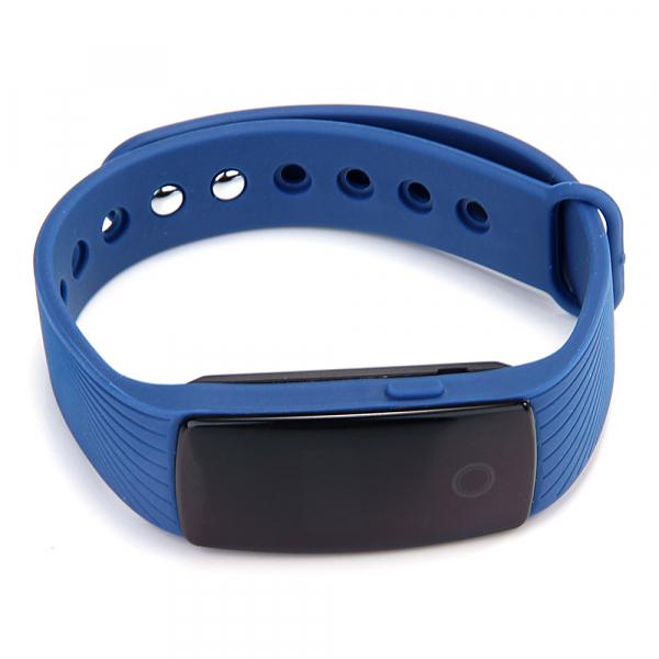 Bratara fitness MoreFIT™ ID107 Pro , BT 4.0 , monitorizare puls si somn , actionare camera smart , cronometru, notificari apeluri si sms, Android, iOS, vibratii, albastru 5