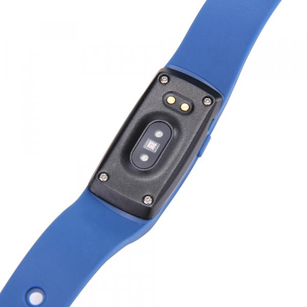 Bratara fitness MoreFIT™ ID107 Pro , BT 4.0 , monitorizare puls si somn , actionare camera smart , cronometru, notificari apeluri si sms, Android, iOS, vibratii, albastru 2