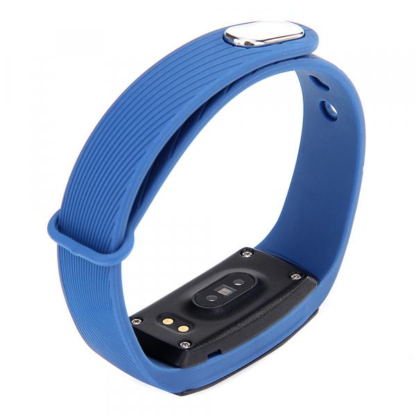 Bratara fitness MoreFIT™ ID107 Pro , BT 4.0 , monitorizare puls si somn , actionare camera smart , cronometru, notificari apeluri si sms, Android, iOS, vibratii, albastru 4