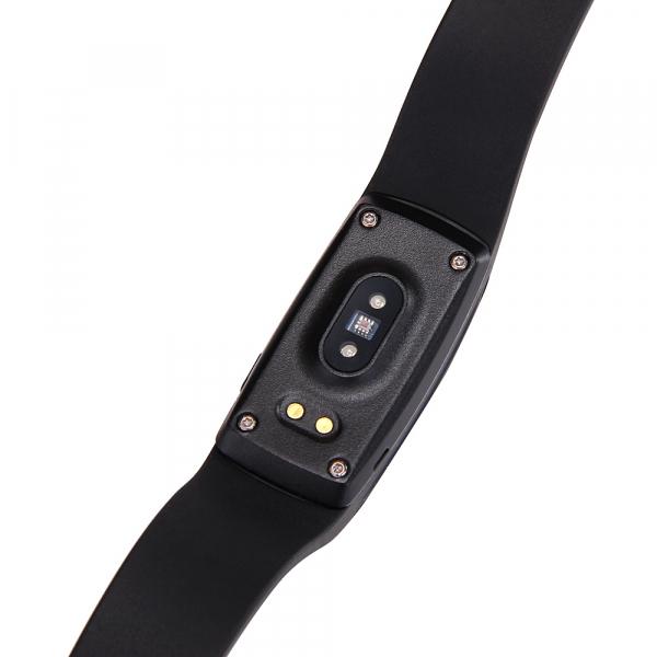 Bratara fitness MoreFIT™ ID107 Pro , BT 4.0 , monitorizare puls si somn , actionare camera smart , cronometru, notificari apeluri si sms, Android, iOS, vibratii, negru [2]