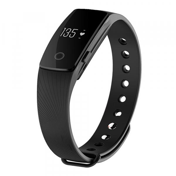 Bratara fitness MoreFIT™ ID107 Pro , BT 4.0 , monitorizare puls si somn , actionare camera smart , cronometru, notificari apeluri si sms, Android, iOS, vibratii, negru [6]