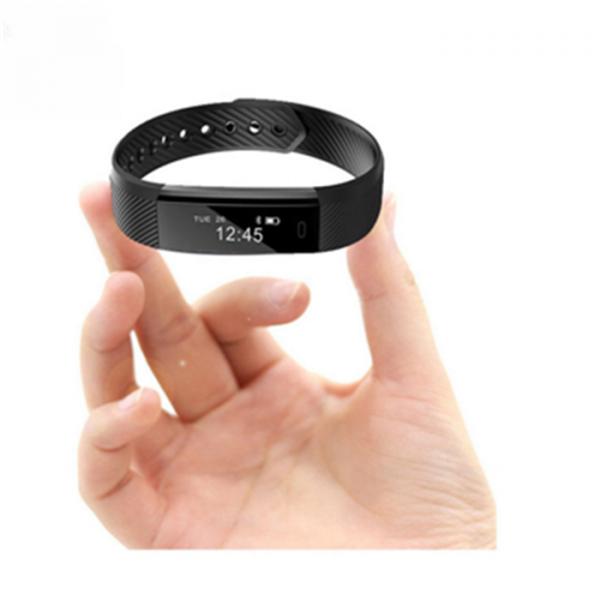 Bratara fitness MoreFIT™ ID115 Pro, BT 4.0, rezistenta la apa IP67, pedometru, remote camera, notificari, Android, iOS, vibratii, negru [3]