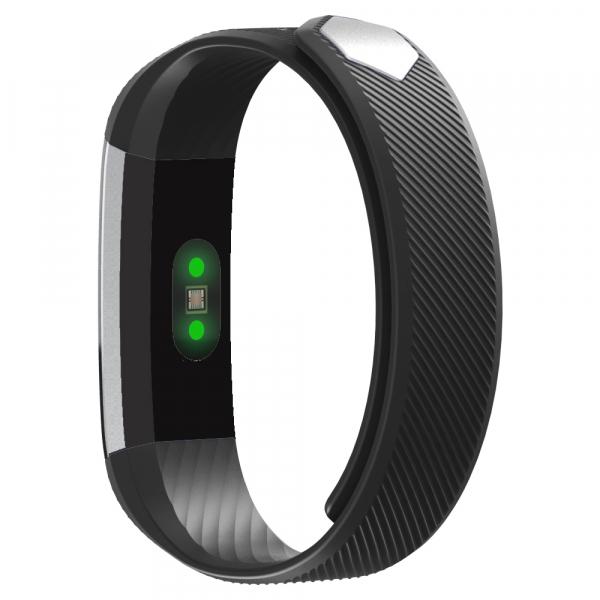 Bratara fitness MoreFIT™ ID115HR Plus, BT 4.0, rezistenta la apa IP67, ritm cardiac, pedometru, remote camera, notificari, Android, iOS, vibratii, negru 1