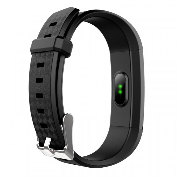 Bratara fitness MoreFIT™ Id115Plus, BT 4.0, Pasi, Distanta, Calorii, Rezistenta la apa IP67, Timp de activitate, Monitorizare Somn, SMS Alert, Puls, Negru 2