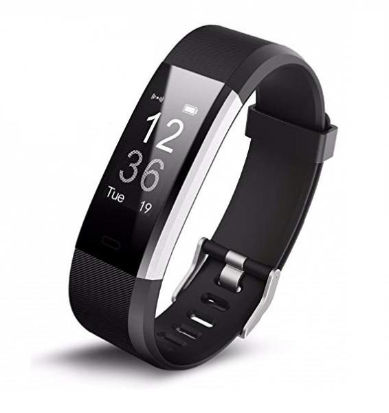 Bratara fitness MoreFIT™ Id115Plus, BT 4.0, Pasi, Distanta, Calorii, Rezistenta la apa IP67, Timp de activitate, Monitorizare Somn, SMS Alert, Puls, Negru 1