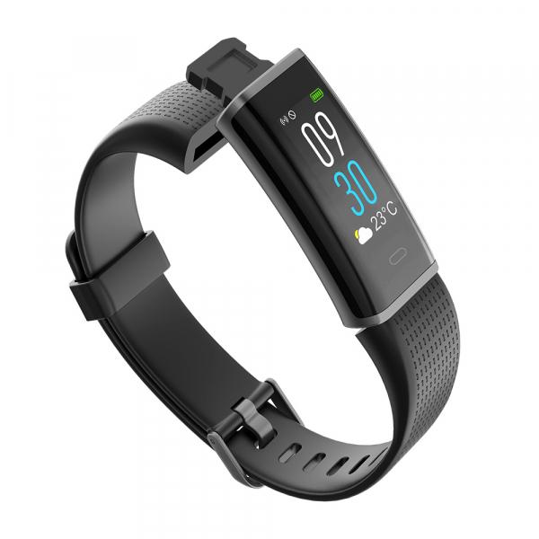 Bratara fitness MoreFIT™ ID130C Pro, LCD color, puls dinamic 24h, 14 moduri sport, rezistenta la apa ip67, stand-by 10-15 zile, notificari,negru 3