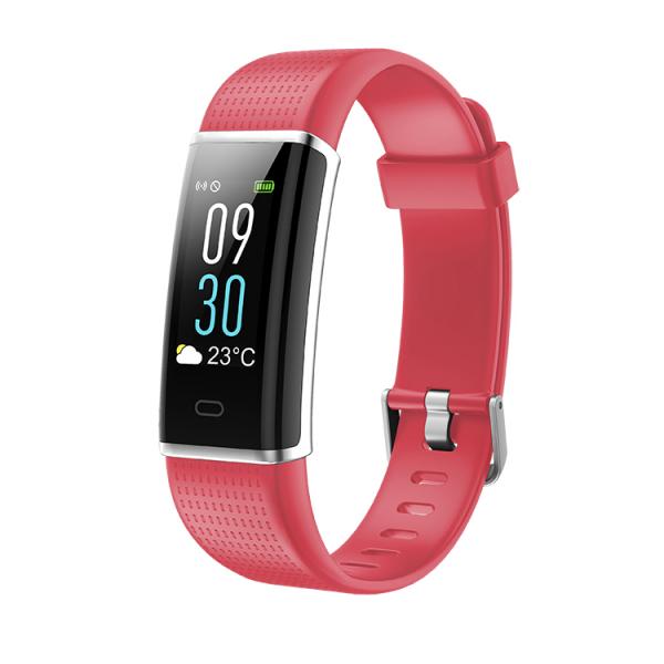Bratara fitness MoreFIT™ ID130C Pro, LCD color, puls dinamic 24h, 14 moduri sport, rezistenta la apa ip67, stand-by 10-15 zile, notificari, rosu 0